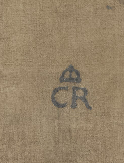 Charles's 'CR' brand, from the reverse of a portrait of his mother, Anne of Denmark. Royal Collection Trust / © Her Majesty Queen Elizabeth II 2018